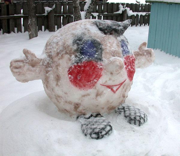 Подделки из снега своими руками