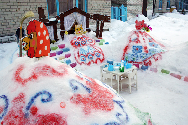 Снежные фигуры на новый год своими руками 64