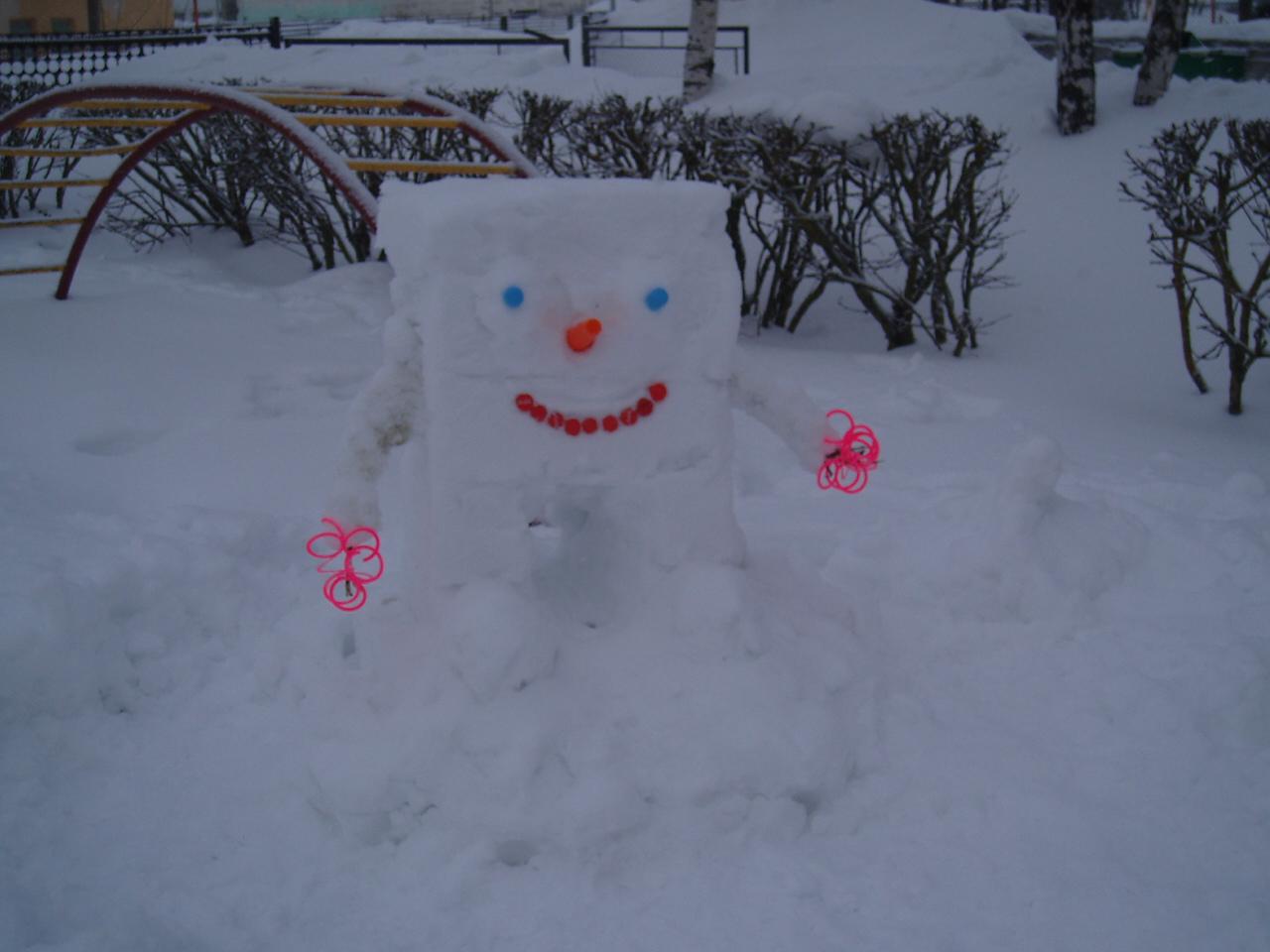 Зимние поделки своими руками из снега